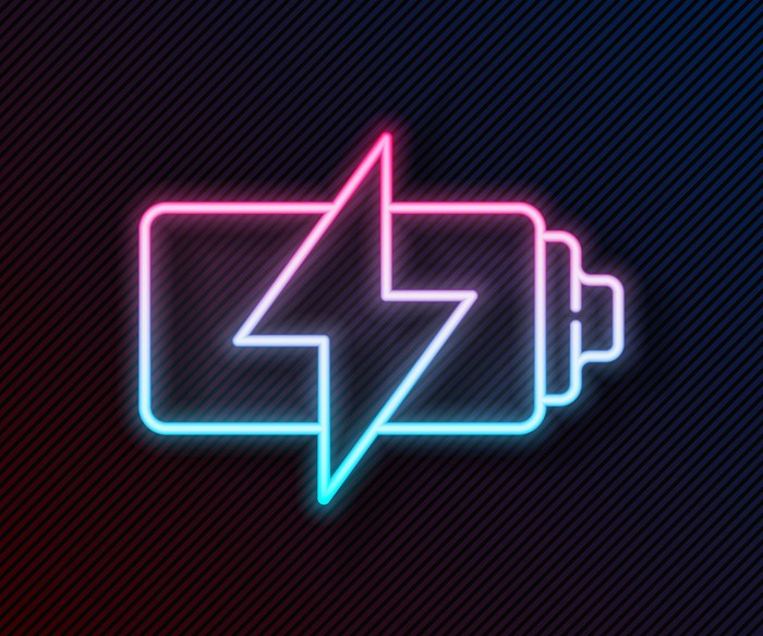 A charging battery icon.