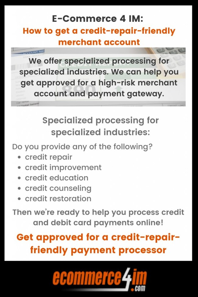 E-Commerce4im Credit Repair Payment Processing