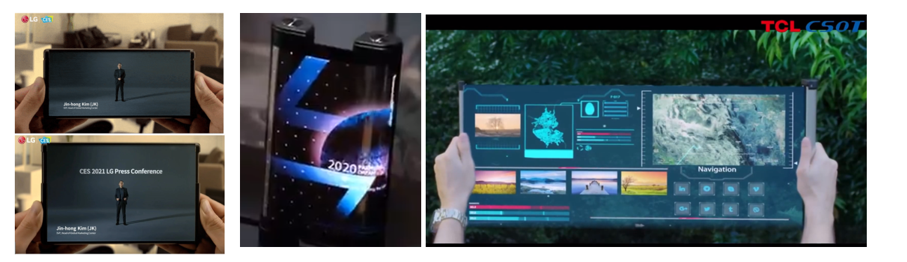 Amoled Displays Lg Rollable Tcl Smartphones Tcl Csot Ces 2021