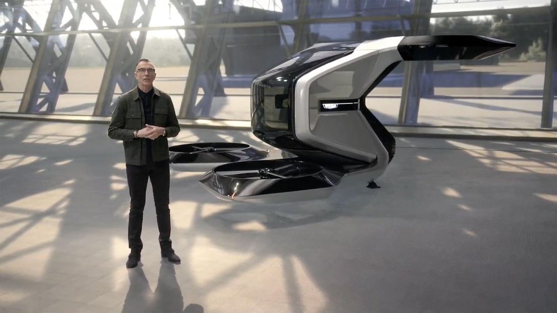 GM Cadillac eVTOL flying taxi concept