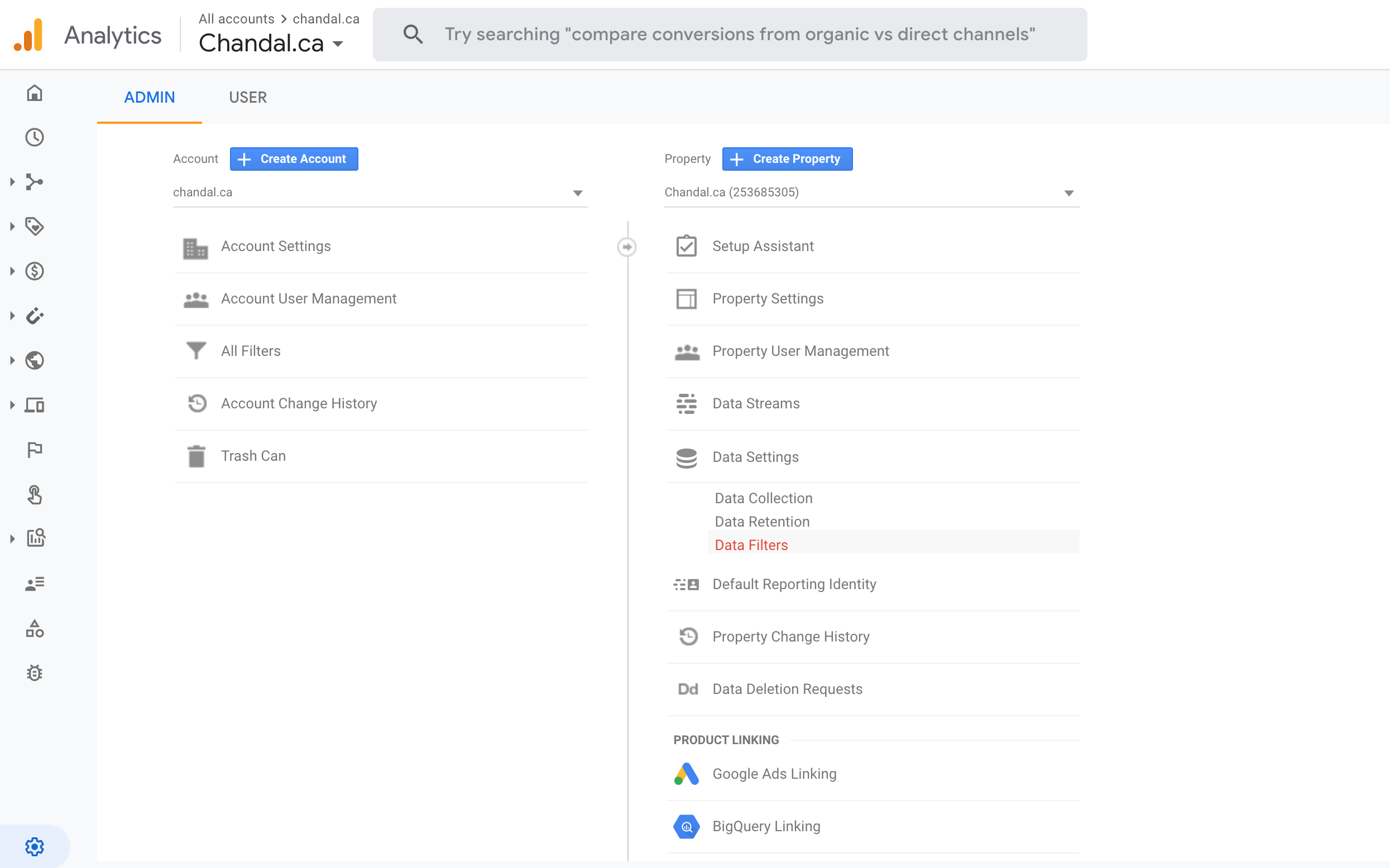 No View in Google Analytics 4
