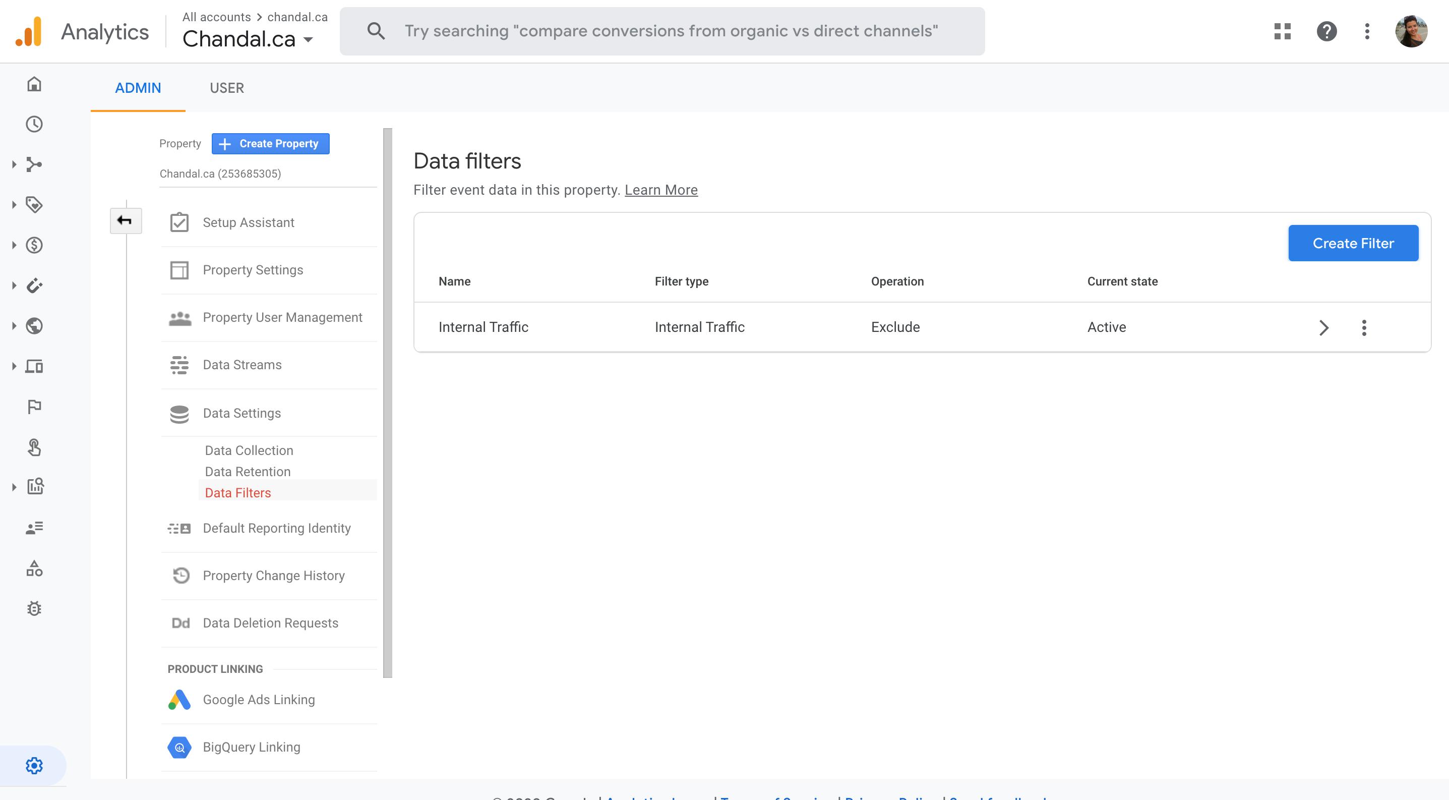 Google Analytics 4 Filter Creation