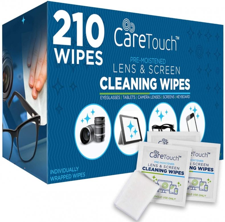 Care Touch cleaning wipes