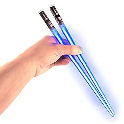 blue light saber chopsticks