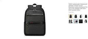 YESO backpack: Lightweight, Anti Tear, and Waterproof.